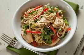 Noodle Salad Recipes Chinese Chicken And Noodle Salad With Peanut Sauce Recipe Relish