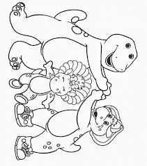 barney friends coloring pages coloring