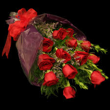 a dozen roses wrapped dozen roses