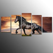 compare prices on running horses painting with frame online