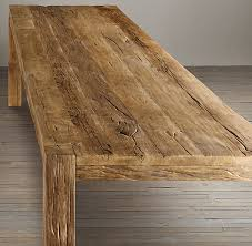 Restoring Barn Wood Parsons Reclaimed Russian Oak Dining Table Rectangular Dining