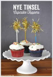 Cupcake Decorations For New Years by Nye Tinsel Cupcake Toppers Vicky Barone