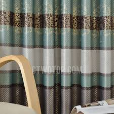 Gold Thermal Curtains Gold Tree Pattern Thick Suede Thermal Blackout Curtains In Dark Green