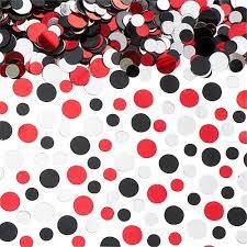 red black u0026 silver dots confetti shindigz
