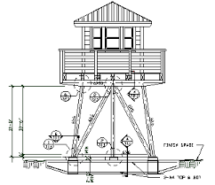 Backyard Blueprints Lookout Towers Engineered Plans For 1 Story Lookout Tower