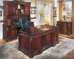 remarkable mahogany office desk in modern home interior design