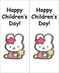 free templates for children s bookmarks hello kitty happy children s day two way bookmark printable