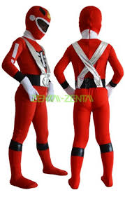 Power Rangers Halloween Costumes Adults Power Rangers Kids Costume Red Silver Spandex Lycra Zentai Suit