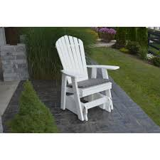 Patio Glider Bench A U0026l Furniture Co Poly Adirondack Glider Chair Rocking Furniture