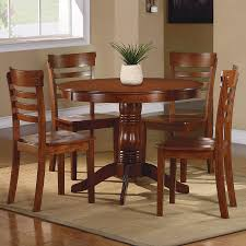 shop homelegance wayland antique oak 5 piece dining set with round