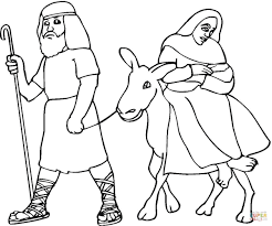 coloring page of joesph and mary coloring home