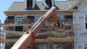 Interior House Painter Glenview Glenview Illinois Usa June 16 2014 A Painter On A Boom Lift