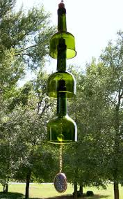 design your own green home how to create your own green retro wind chime out of recycled wine