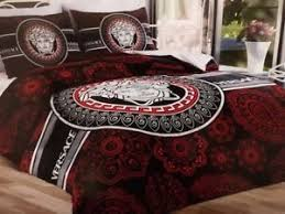versace bed new versace bedding set red and black medusa cotton satin queen