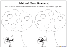 odd and even numbers apple tree worksheet k 3 teacher resources