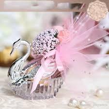 swan wedding 2017 new novelty wedding favor boxes acrylic silver swan wedding