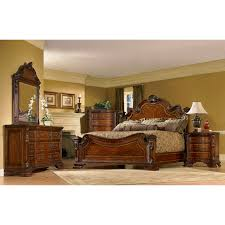 King Size Bedroom Set Solid Wood A R T Furniture Old World 7 Piece Double Pedestal Dining Set With