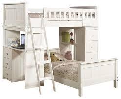 loft bunk bed with desk finelymade furniture