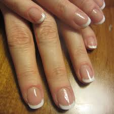 short gel french tip my nails and hair pinterest salons