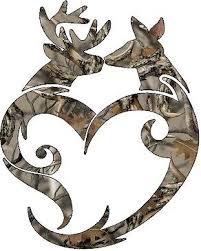 buck and doe heart browning buck doe heart camo decal vinyl sticker cars