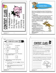 clues activities and task cards bundle 15 context clues worksheets