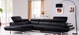 canaper en cuir canapé d angle gauche cuir noir hudson