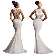 wedding dress white backless wedding guest bridesmaid dress