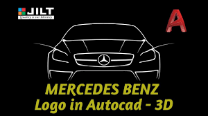 mercedes benz logo create mercedes benz logo in autocad 3d youtube