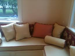 nice custom window bench cushions with simple pillows color design