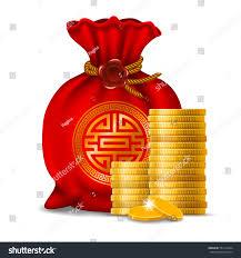 new year money bags bag new year golden stock vector 551411824