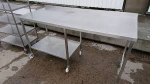 used stainless steel tables for sale secondhand catering equipment stainless steel tables 1 01m to 2m