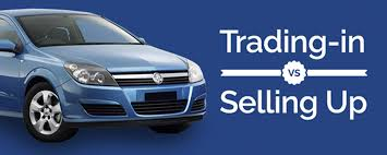trading in a brand new car trading in versus selling up bartons