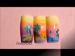 my first airbrush nail designs youtube