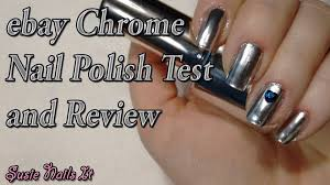 ebay chrome mirror effect polish review and test nail art