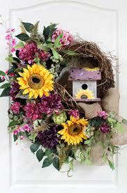 Spring Wreath Ideas 366 Best Birdhouse Wreaths Images On Pinterest Summer Wreath