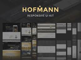 hofmann responsive ui kit sketch freebie download free resource
