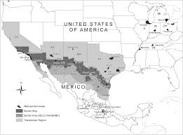 Map Of Mexico States And Cities by Trade Flows Between The United States And Mexico Nafta And The