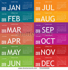 color of year calendar year 2018 color card set stock vector 705088699 shutterstock