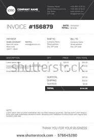 vector minimalist invoice template design your stock vector