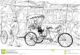 rickshaw sketch stock illustrations u2013 56 rickshaw sketch stock