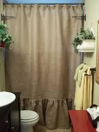 ruffled bottom burlap shower curtain 72 00 via etsy dream ruffled bottom burlap shower curtain 72 00 via etsy