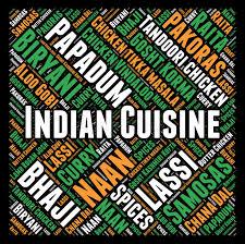mot de cuisine nuage indien de mot de cuisine illustration stock illustration