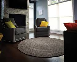 flooring family room ideas with arm sofa and round jute rug
