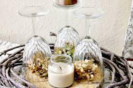 Hydrangea Centerpiece Fall Wine Glass Hydrangea Centerpiece