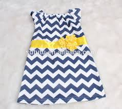 top quality simple design cotton child dress for kids short sleeve