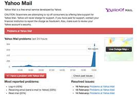 yahoo email not pushing to iphone yahoo mail down e mail outage hits hundreds of users again tech
