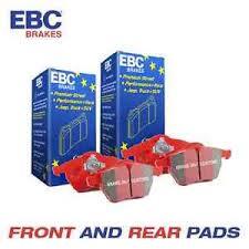 honda civic ebc redstuff front and rear brake pads 2 0 type r fn2