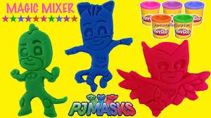 pj masks play doh surprises magic mixer fun pretend play