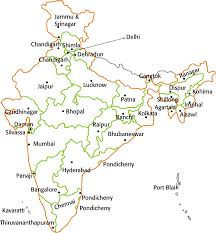 India Map With States by Bharatmatamandir Important Cities