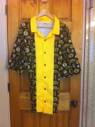 boston bruins home decor boston bruins retro bowling shirt
